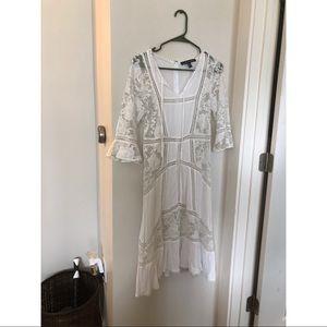 For LOVE & LEMONS White Lace Dress MEDIUM